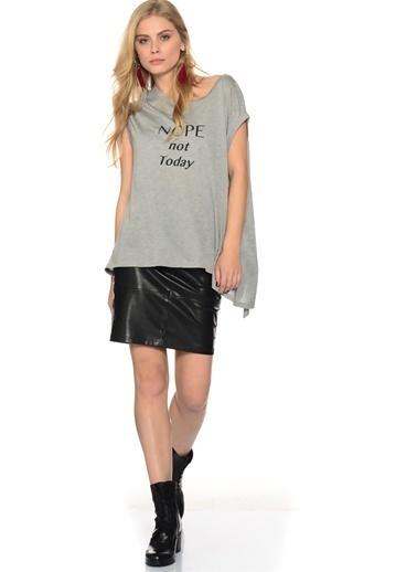 Shana Shana Baskılı Gömlek Gri